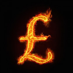 Flaming Currency Symbol