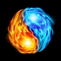 Flaming Yin & Yang